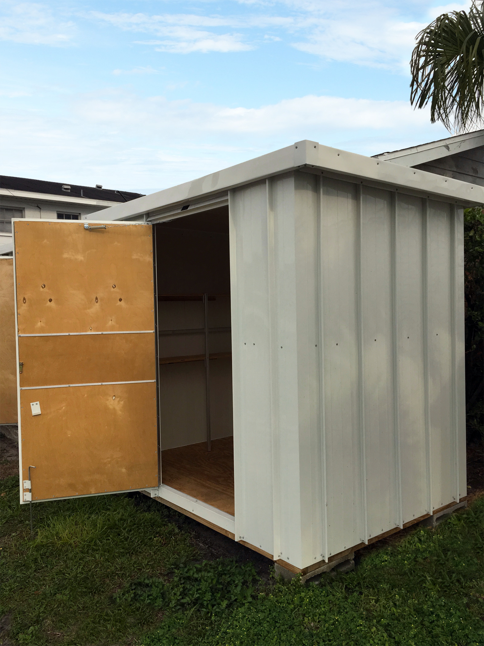 Flat Roof Wooden Sheds : Flat roof storage shed aluminum buildings wally watt